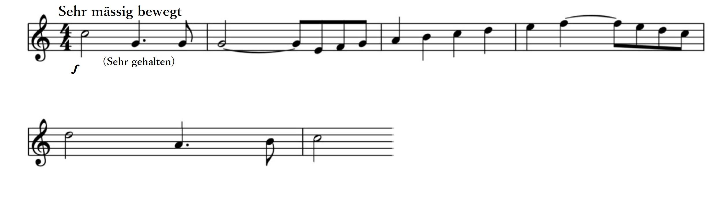 冒頭から全員で演奏される、最も重要な動機です。マイスタージンガーの威厳を表す動機として幾度となく登場します。